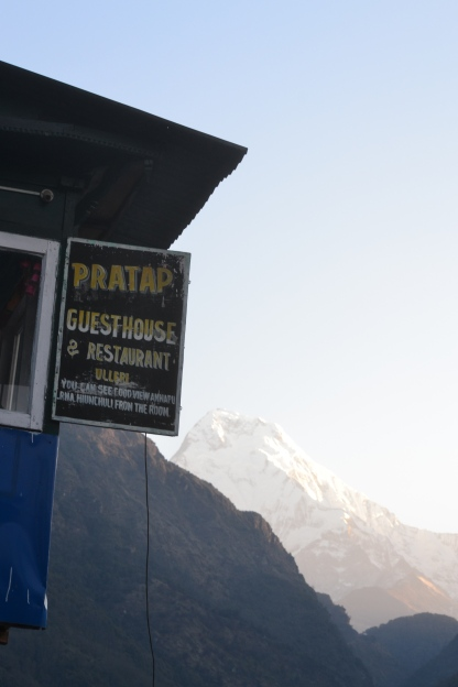 Ulleri teahouse and annapurna south